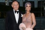M.A.C Cosmetics's John Demsey and Rihanna attend the 2014 CFDA Fashion Awards at Alice Tully Hall on Monday, June 2, 2014, in New York. (Photo by Evan Agostini/AP Images)