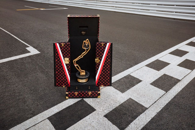 The Louis Vuitton trophy travel case for the Monaco Grand Prix.