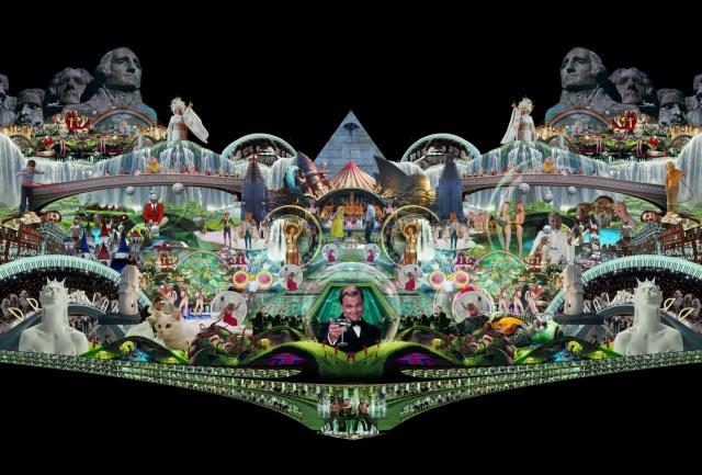 "A still from Marco Brambilla's ""Heaven's Gate"" video art."