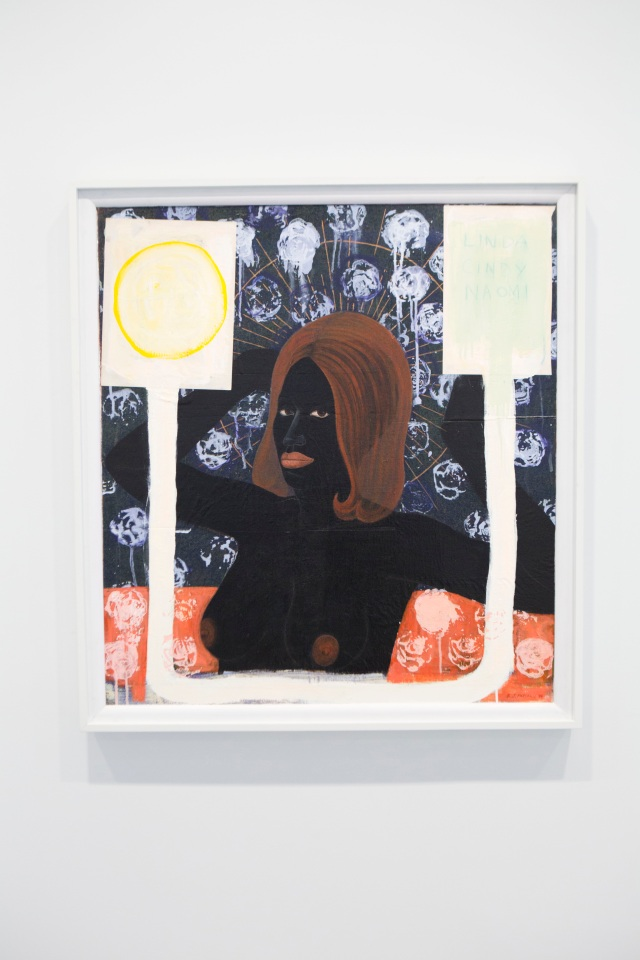 """Kerry James Marshall's 1994 painting """"Super Model (Female)."""""""