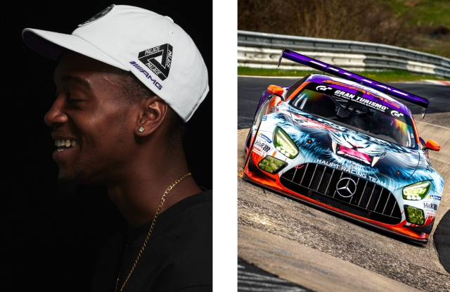 Palace is working with Mercedes-AMG, on team livery and a merchandise collection.