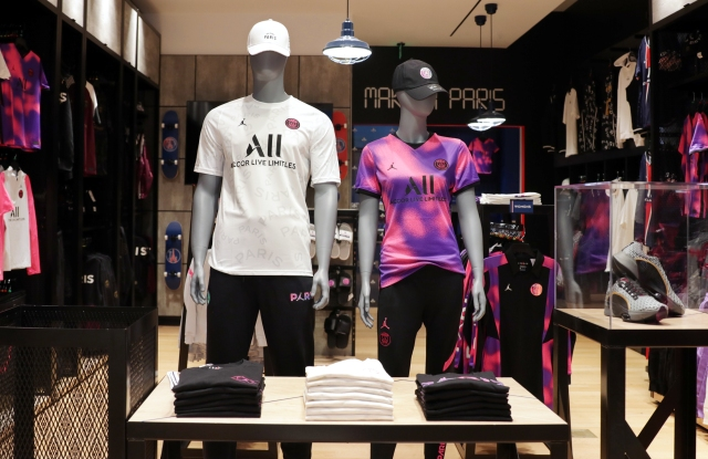 Paris Saint-Germain store.