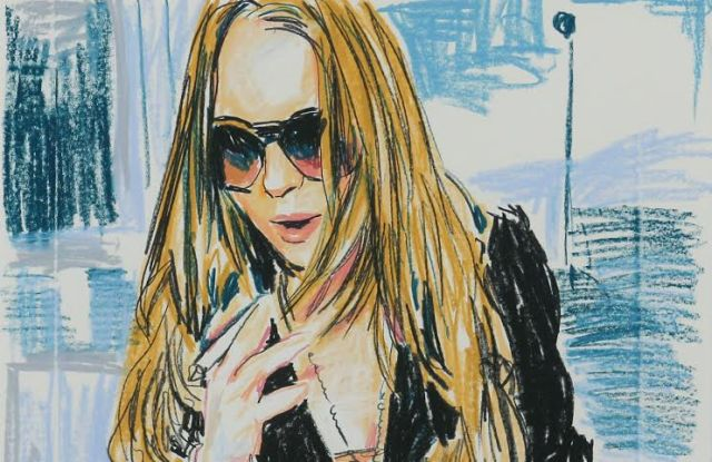 "Enoc Perez, ""Untitled (Lindsay Lohan)."""