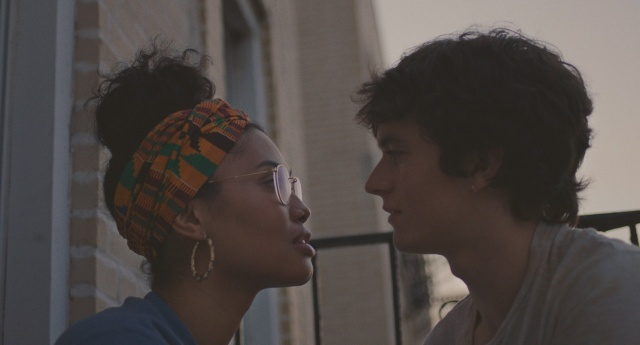 Leyna Bloom as Wye and Fionn Whitehead as Paul in a still from the film.