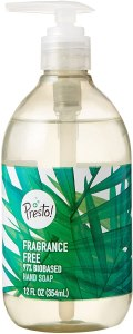 Presto! Biobased Hand Soap, best fragrance free hand soap, unscented