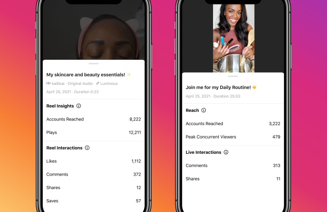 Instagram is offering businesses new Reels and Live insights into how their videos are performing.