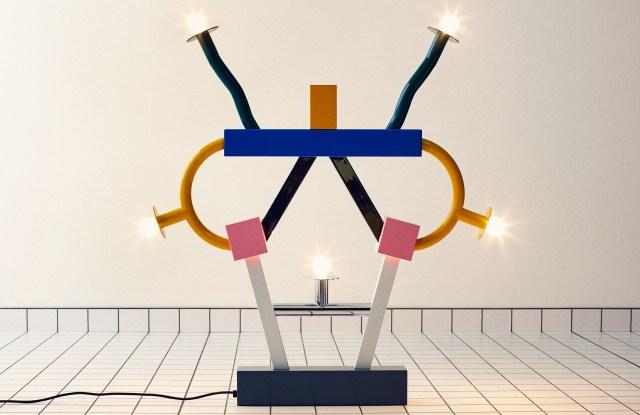 The Ashoka table lamp by Ettore Sottsass.