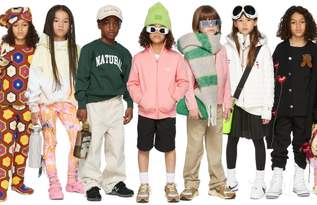 The look of Ssense Kids.