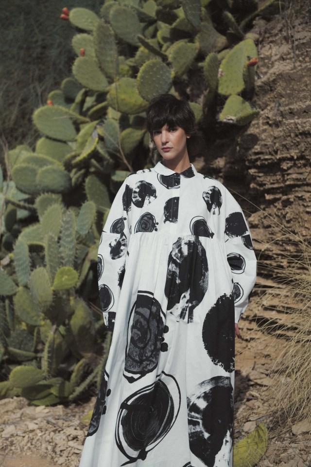 A look from designer Sasson Kedem at Kornit Fashion Week Tel Aviv.