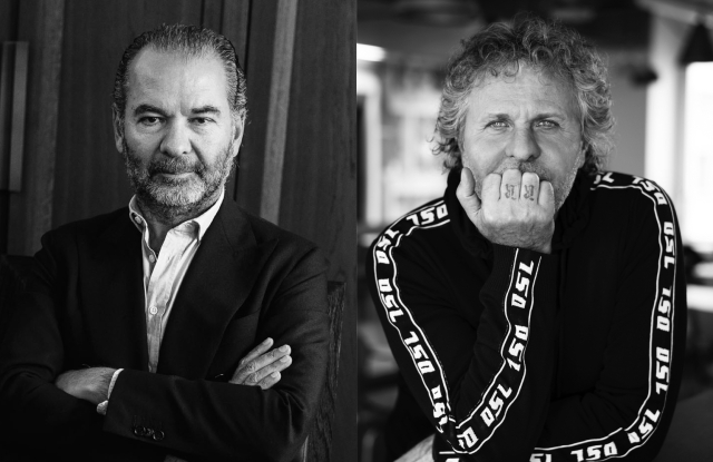 Moncler's chairman and CEO Remo Ruffini and OTB founder and president Renzo Rosso.