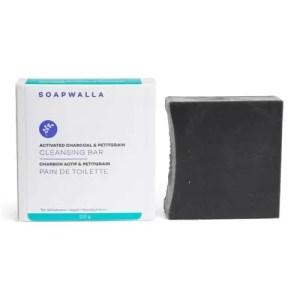 Soapwalla Activated Charcoal and Petitgrain Soap Bar, best natural bar soaps