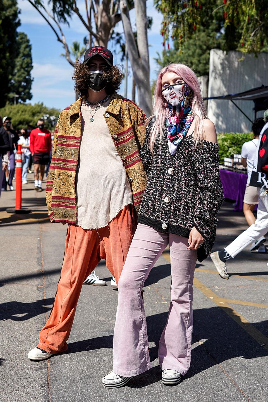 Street style in Los Angeles.
