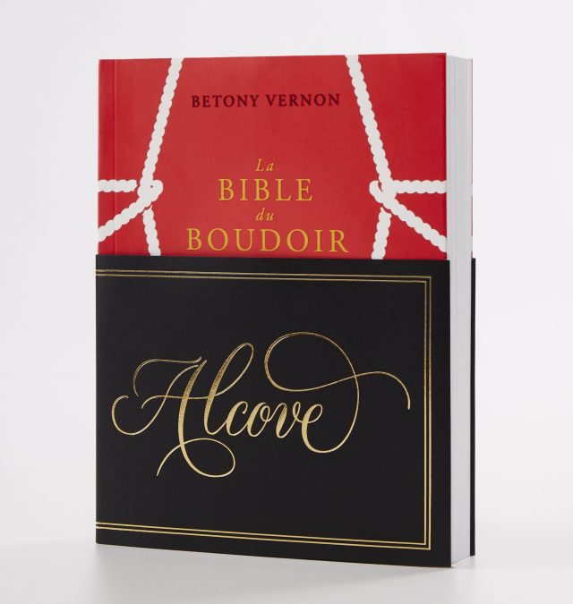 """Betony Vernon's """"The Boudoir Bible — The Uninhibited Sex Guide for Today"""" book's special edition developed with Valentino."""