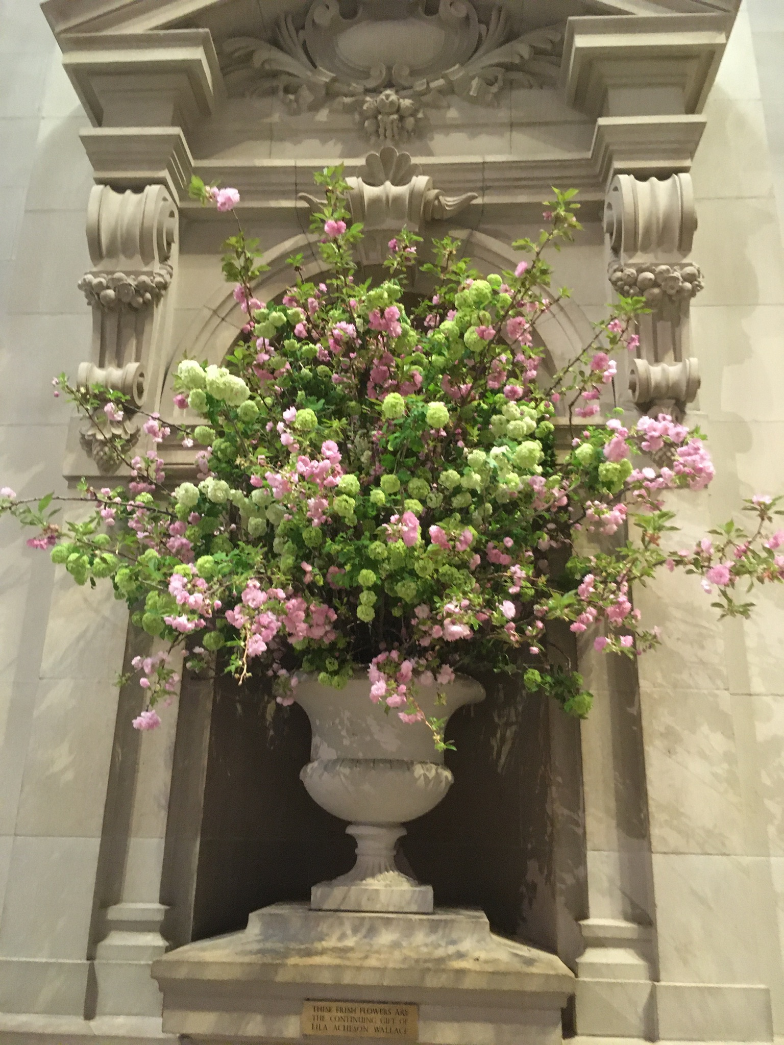 A floral installation in The Met's Great Hall.
