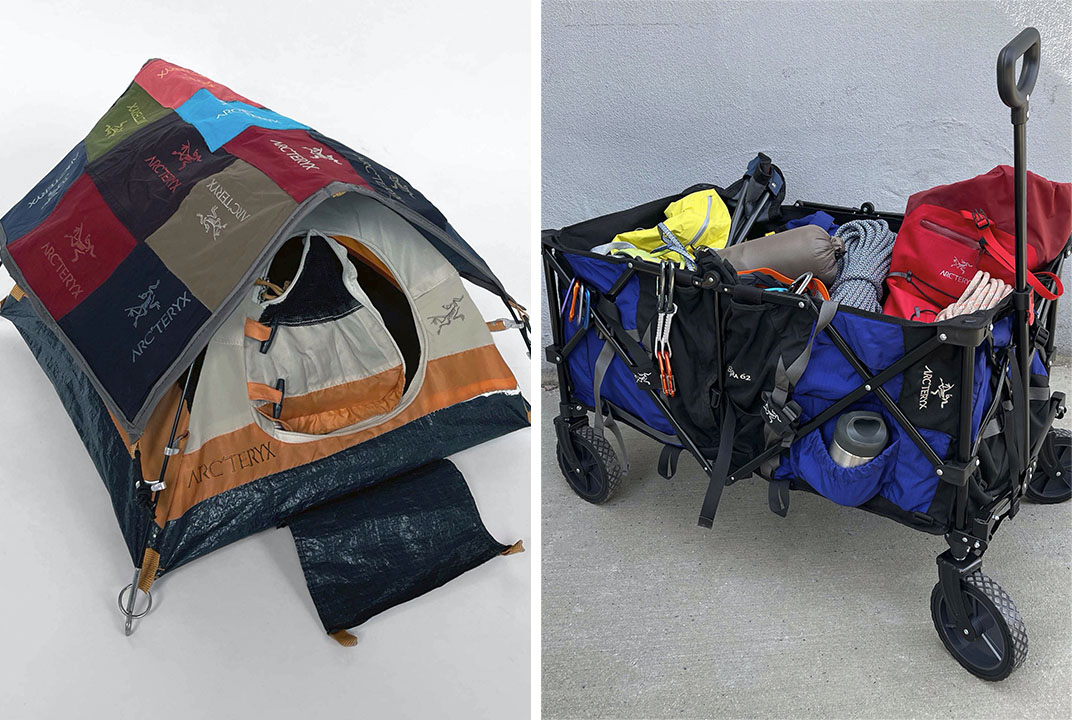 The Nicole McLaughlin designed mini tent for Arc'teryx.