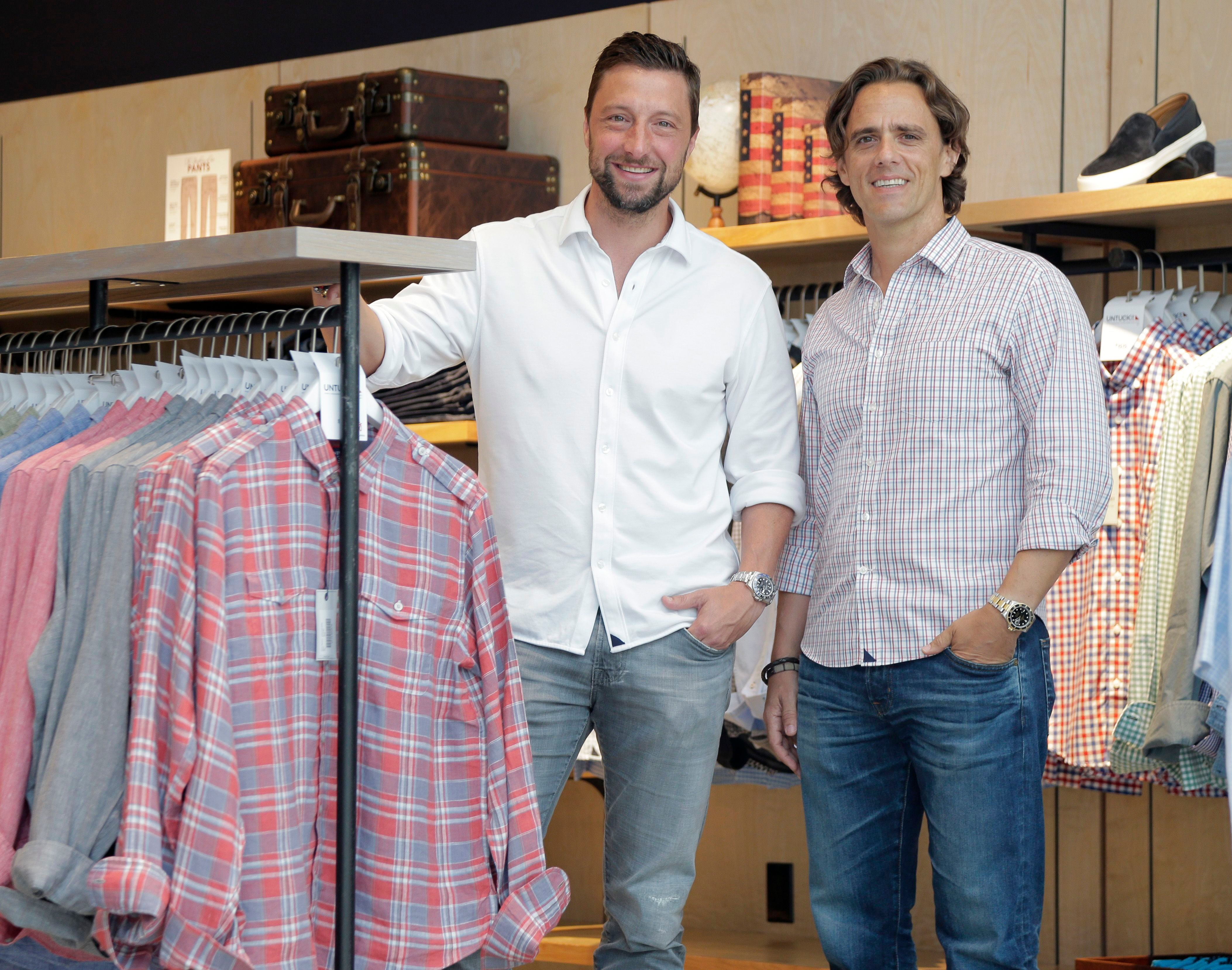 Chris Riccobono and Aaron Sanandres of Untuckit..