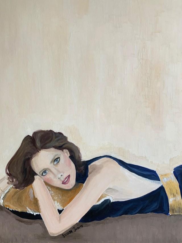 "Vanessa Seward's painting ""Blue Sylvia."""