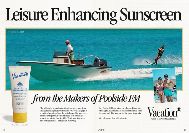 Vacation by Poolside FM Brings 1980's Nostalgia to the Sunscreen Category