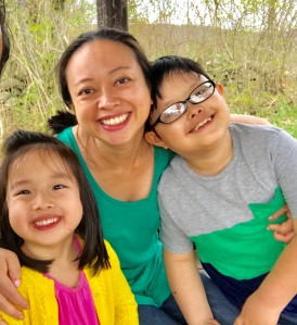 Vennette Ho with her kids.