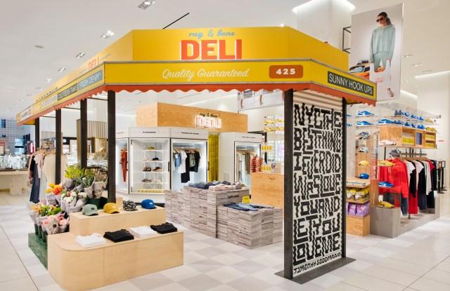 Rag & Bone creates neighborhood deli at pop-up at Nordstrom NYC flagship.
