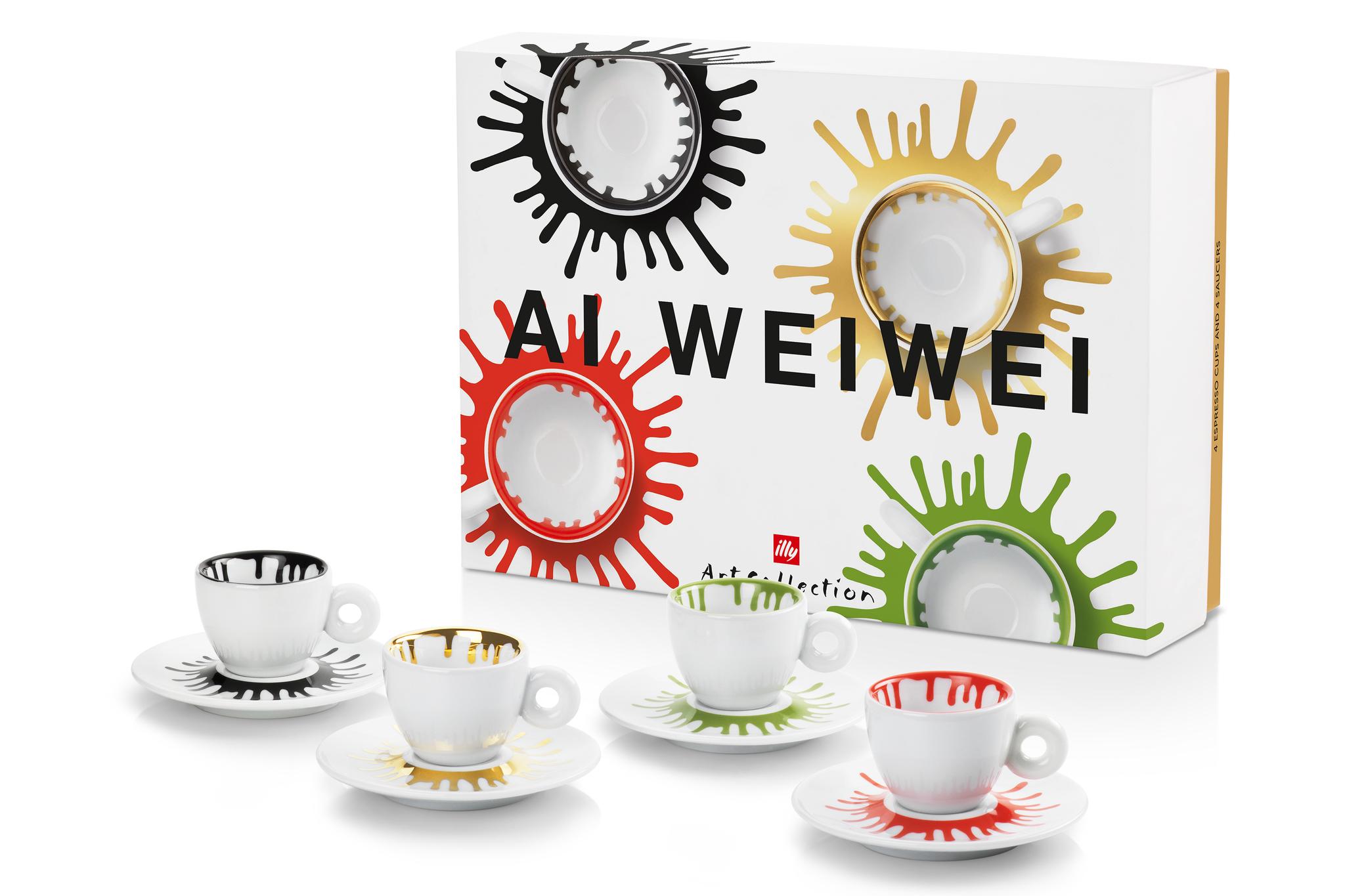 Les créations d'Ai Weiwei pour illy.