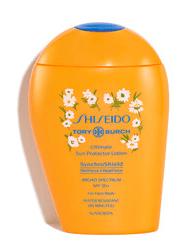 Tory Burch x Shiseido's Ultimate Sun Proector Lotion SPF 50+.
