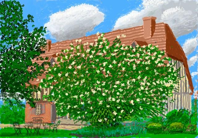 """David Hockney, """"No. 316,"""" April 30, 2020, iPad painting © David Hockney"""