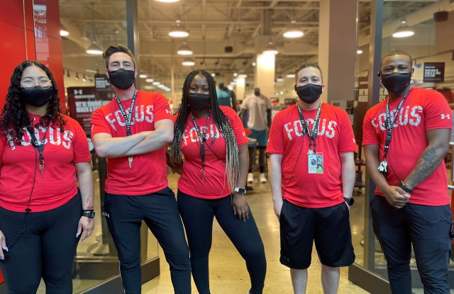 Under Armour workers.