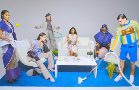 Screenshot of fashion film Utopia/Dystopia by Younji Ku
