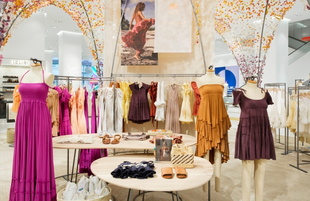 The Free People pop-up at Nordstrom in New York City.