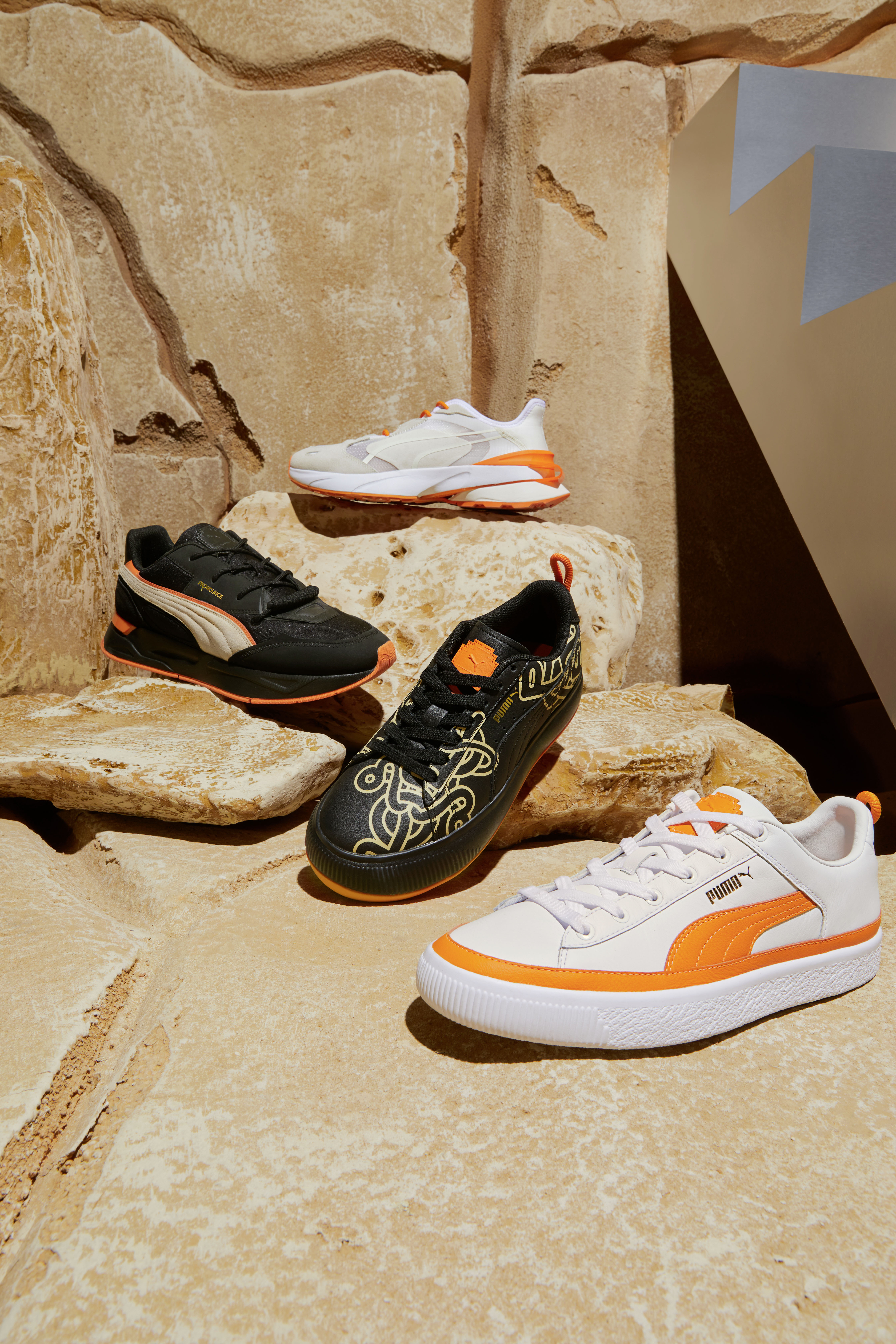 New sneaker styles from Puma x Pronounce collaboration.