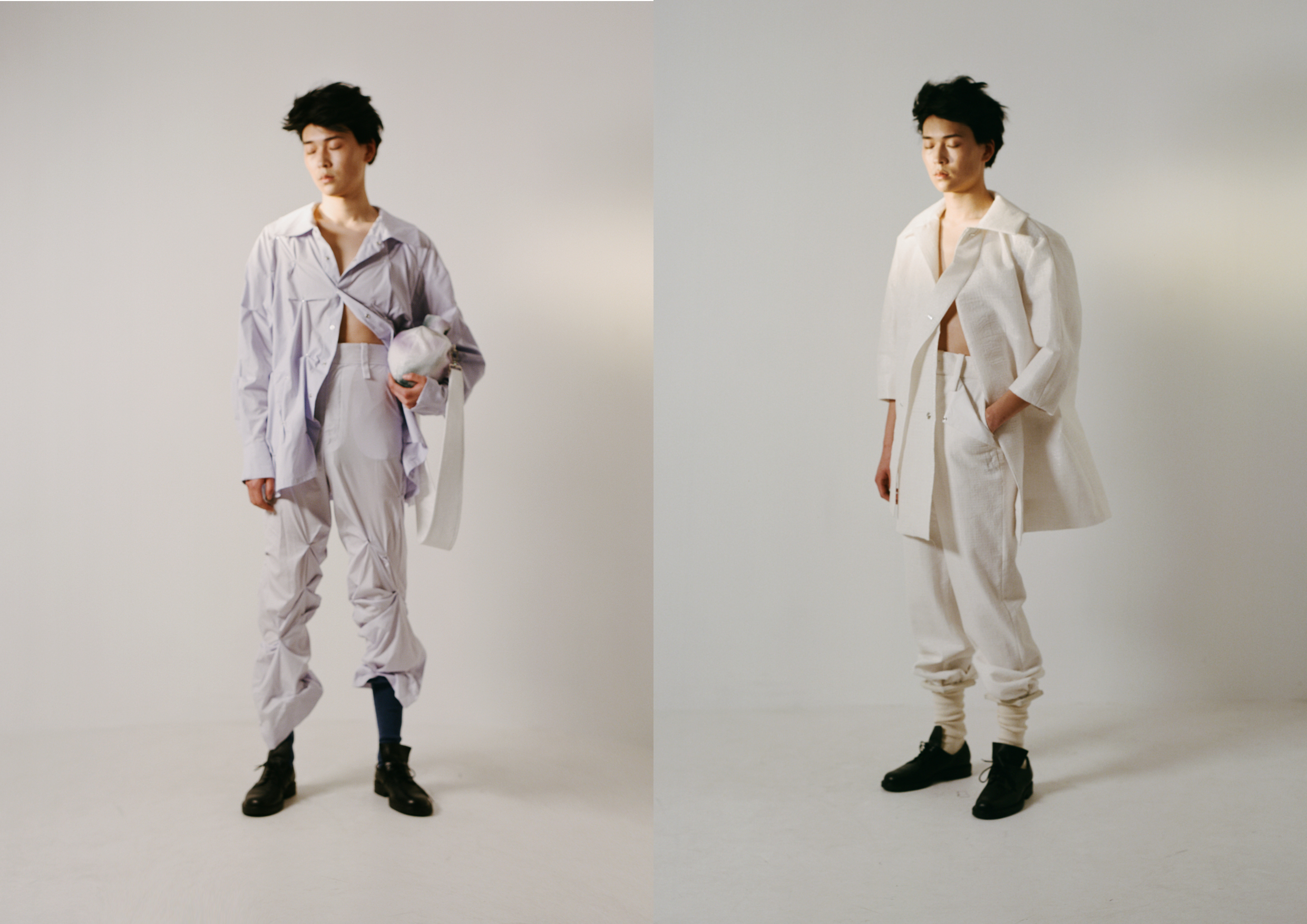 Two looks from Shek Leung spring 2022 collection