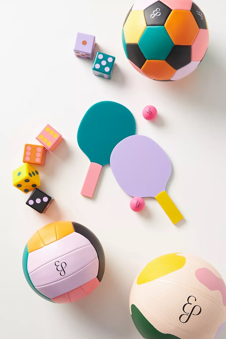 A look at the Edie Parker x Anthropologie outdoor games collaboration