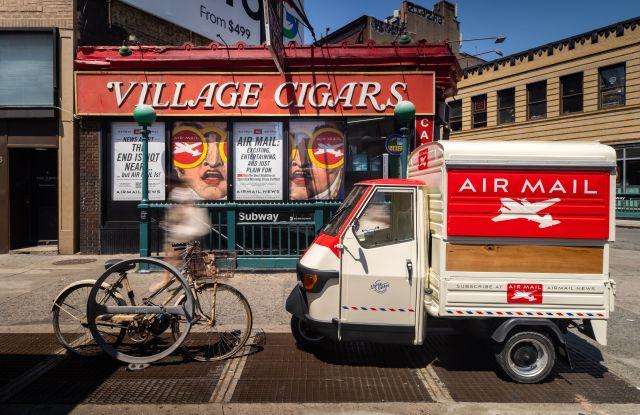 Graydon Carter's Air Mail Launching Mobile Coffee Cart.jpg