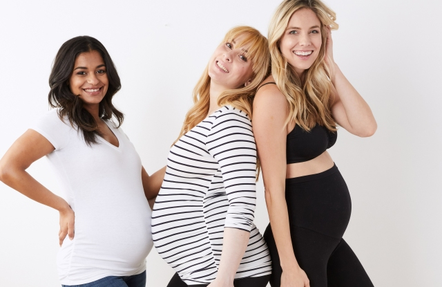 A marketing image from Motherhood Maternity.