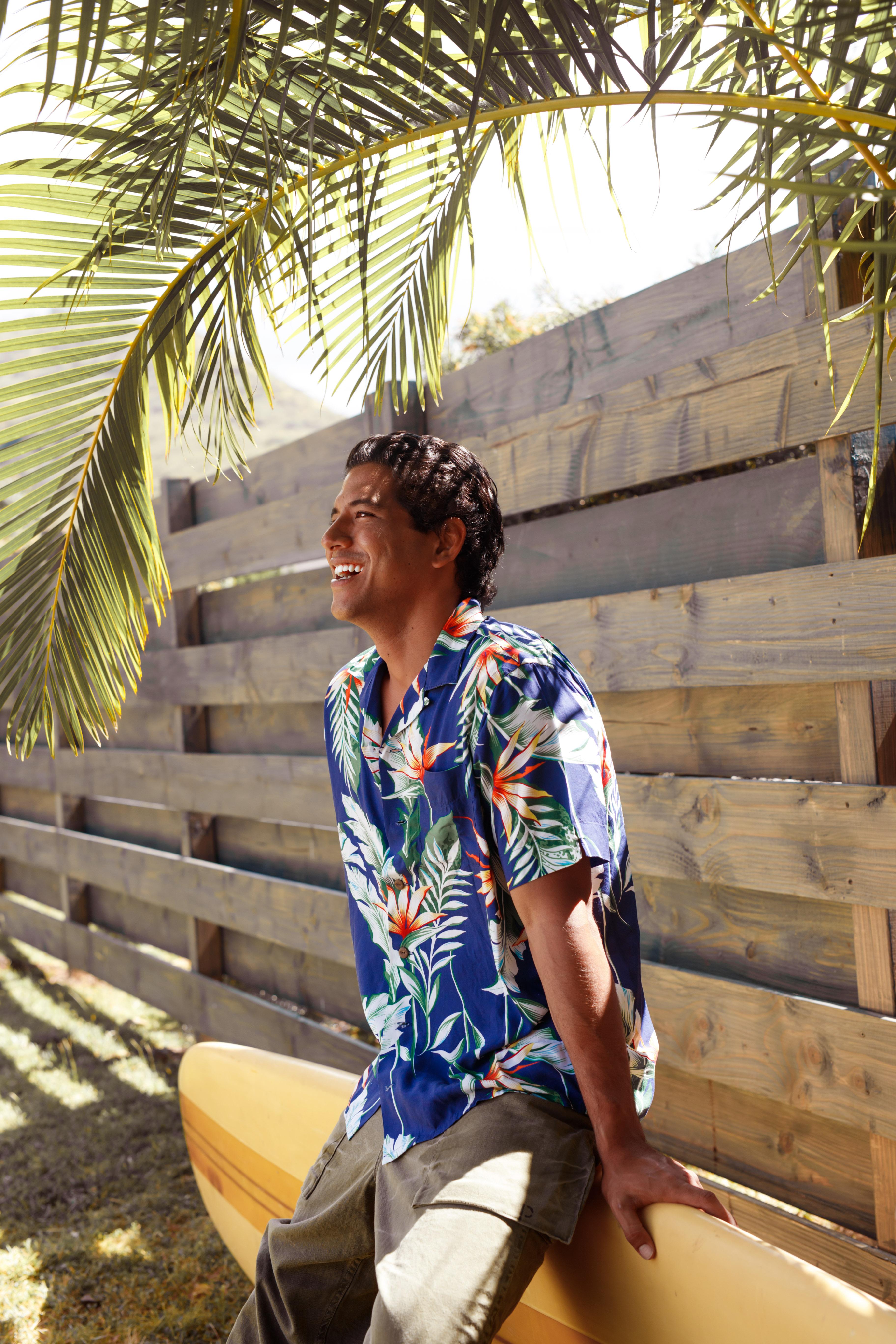 Isiah Moniz in Polo Walter Hoffman shirt.