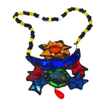 A necklace by Andrew Logan.