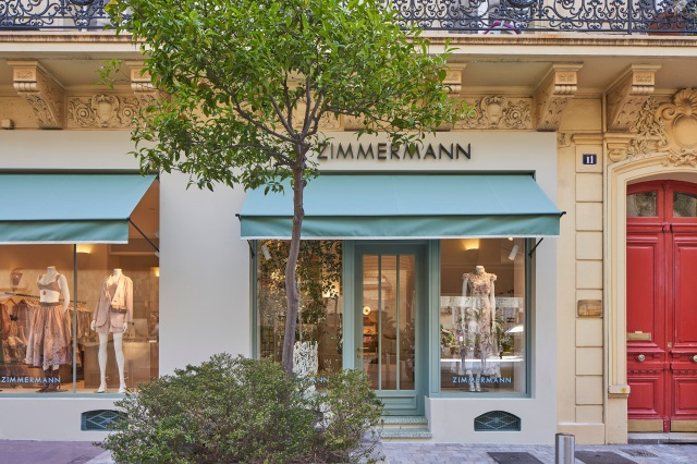 The Zimmermann store in Cannes, France.