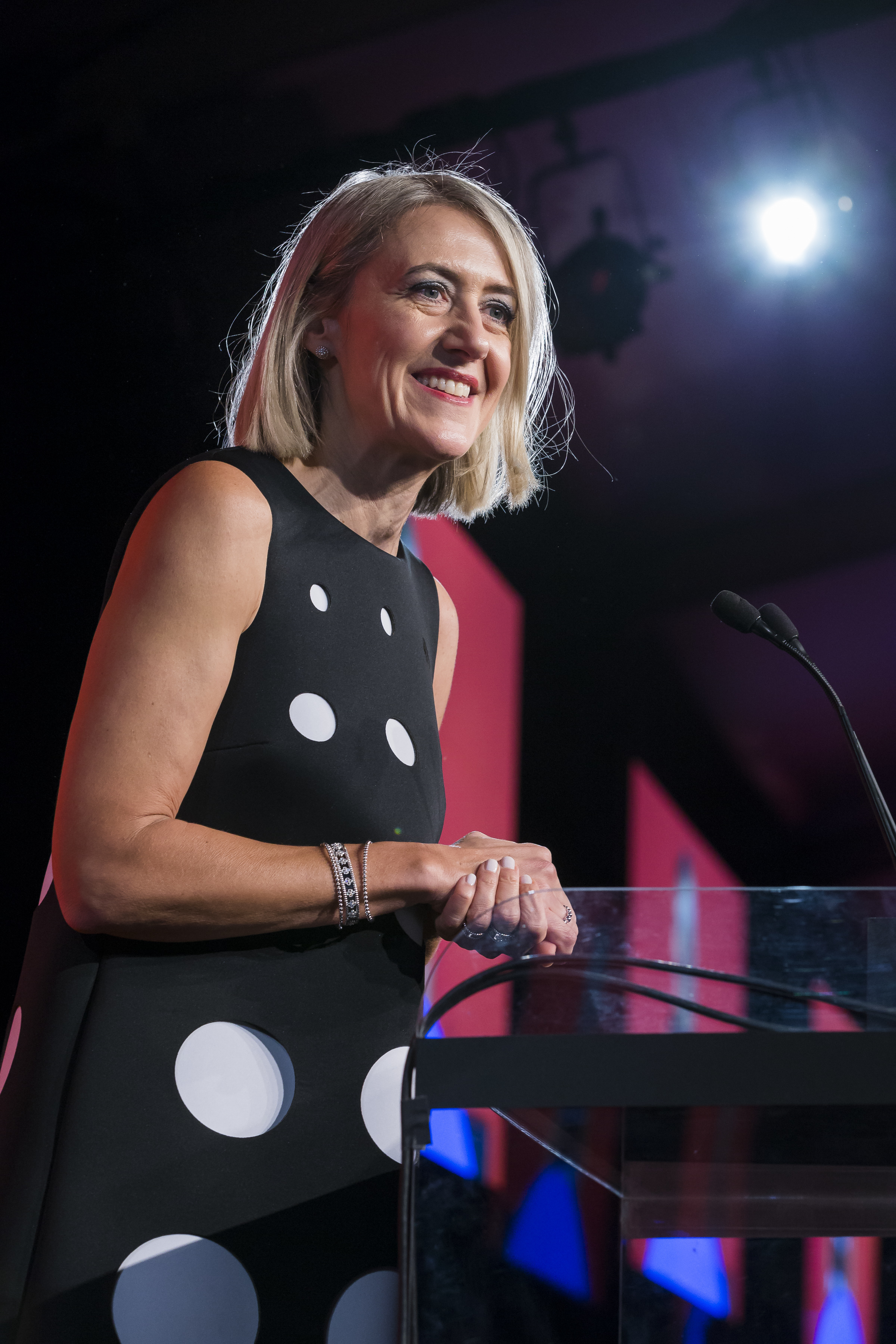 Caroline Baumann at the 2017 National Design Awards Gala held at the Cooper Hewitt Smithsonian Design Museum, NYC in New York, NY on October 19, 2017. (Photo by Scott Rudd/Sipa USA)(Sipa via AP Images)