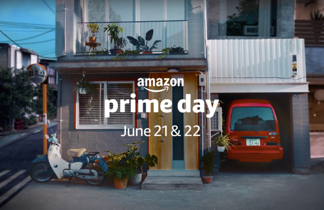 A still shot from a video promo for Amazon's Prime Day, June 21 and 22.