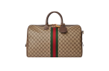 Balenciaga did a range of accessories hacked from Gucci and its GG canvas.