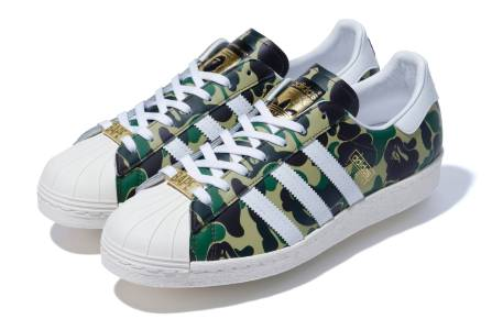 Adidas collaboration with A Bathing Ape