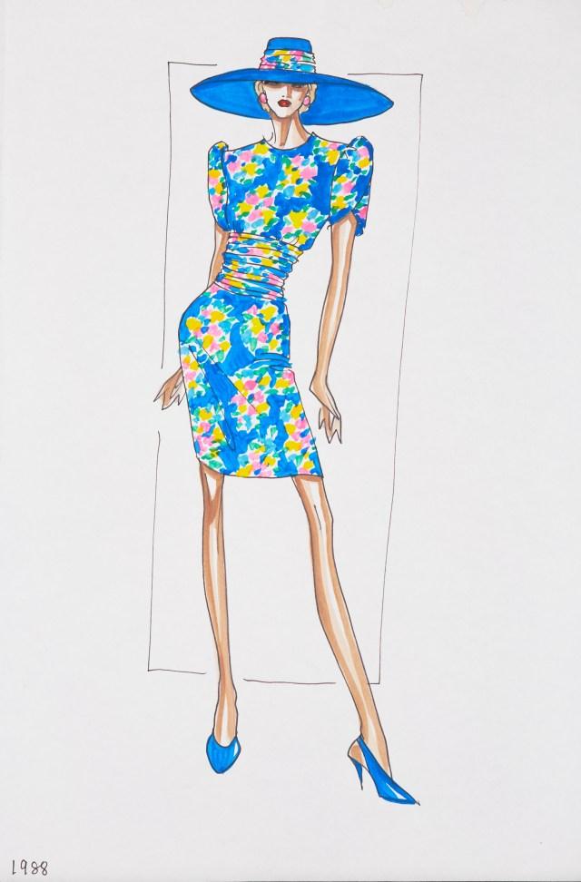 """""""لباس مراقبت"""" که بلویل ساسون برای بازدیدهای عمومی و خیریه های پرنسس دیانا طراحی کرده است."""
