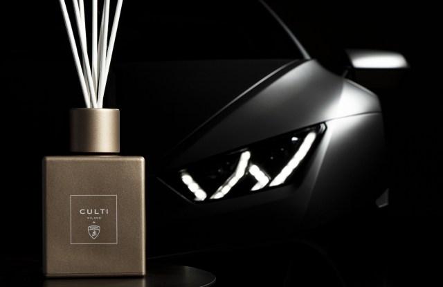 The Culti Milano x Lamborghini fragrance.