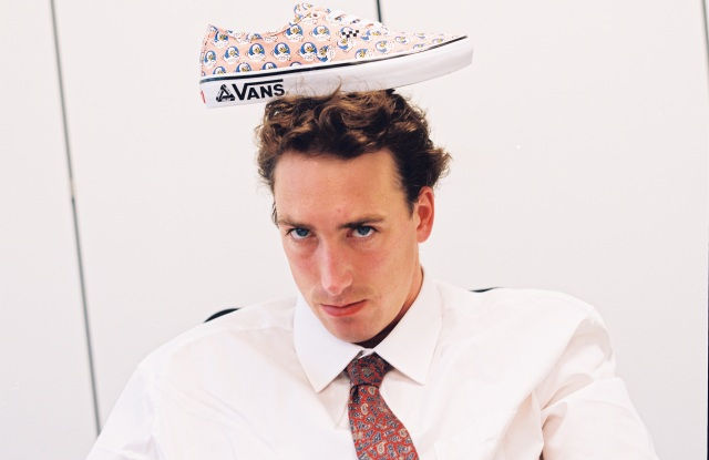 The Vans shoe with the Jeremy the Duck pattern, courtesy of Palace