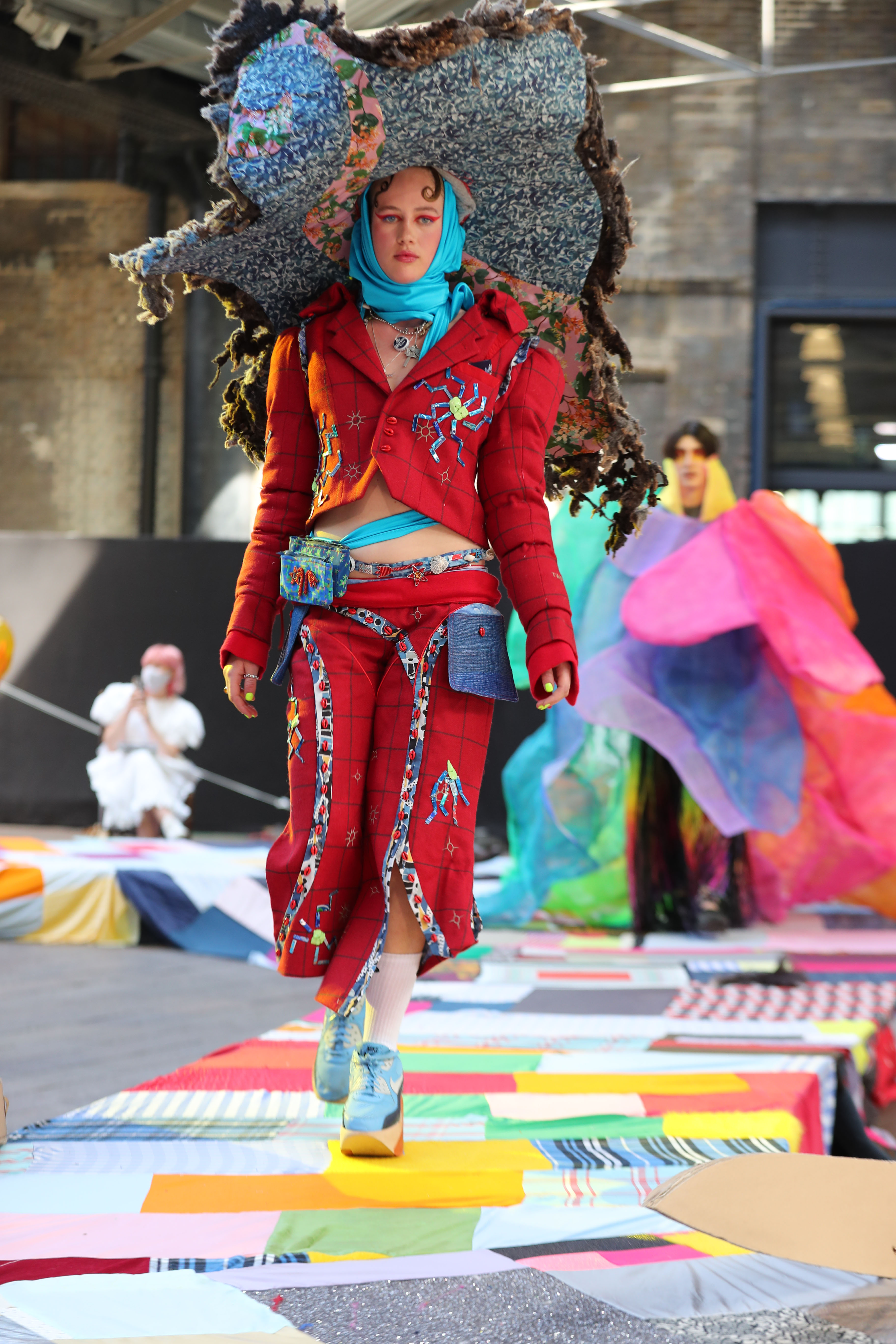 A look from the Central Saint Martins BA Fashion Show 2021.