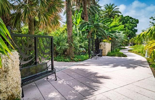 Miami Beach Botanical Garden and Collins Canal