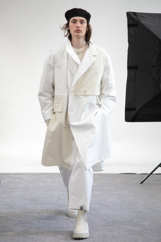A look from Dior's capsule collection with Sacai.