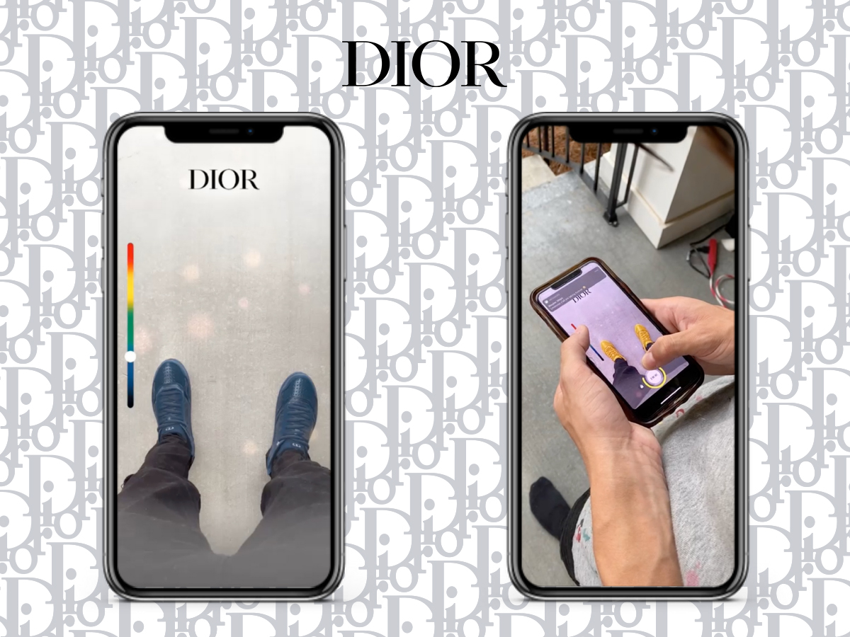 A Snapchat lens for Dior's World Tour capsule collection.