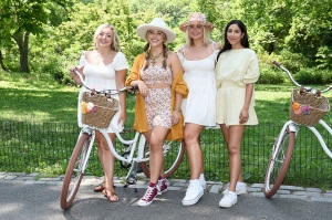 NEW YORK, NEW YORK - JUNE 07: (L-R) Rachel Martino, Audree Kate Lopez, Lindsey Stackhouse, and Ariel Oz attend the Free People x Nordstrom NYC Center Stage Launch Event on June 07, 2021 in New York City. (Photo by Ilya S. Savenok/Getty Images for Nordstrom)